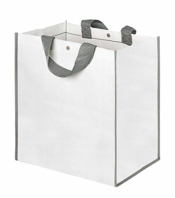 Borsa maxi shopper con soffietto 43x45x24