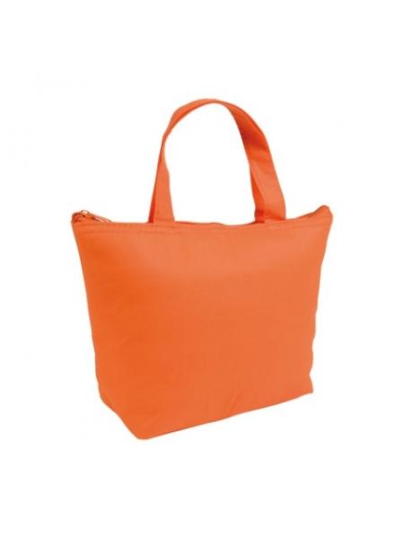 M i Mini borsa termica in TNT interno argentato cm 29x19x9 Arancione