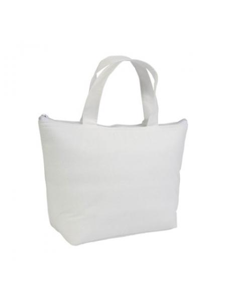 M i Mini borsa termica in TNT interno argentato cm 29x19x9 Bianco