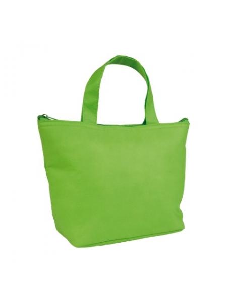 M i Mini borsa termica in TNT interno argentato cm 29x19x9 Verde Lime